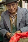 Coca leaf vendor. SUCRE, BOLIVIA - JANUARY 19, 2012: A coca leaf street vendor, a century tradition in the Bolivian culture. January 19, 2012 in Sucre, Bolivia stock photo