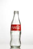 Cocacola bottle. Kuala Lumpur Malaysia,18th July 2016,empty cocacola glass bottle on the white background Stock Photo