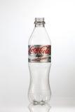Cocacola bottle. Kuala Lumpur Malaysia,18th July 2016,empty cocacola plastic bottle on the white background Stock Images