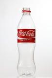 Cocacola bottle. Kuala Lumpur Malaysia,18th July 2016,empty cocacola plastic bottle on the white background Stock Image