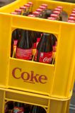 Cocacola box unloaded from delivery truck Stock Photography