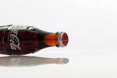 Cocacola drinks. Kuala Lumpur,Malaysia -15 July 2016 250ml cocacola glass bottle japan edition on the white background Stock Photo