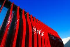 CocaCola Pavilion - Expo Milano 2015. MILAN, ITALY - AUGUST 31, 2015: CocaCola pavilion at Expo Milano 2015, universal exposition on the theme of food, in Milan Royalty Free Stock Photos