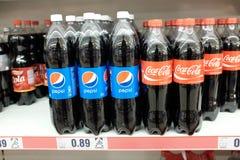 CocaCola and Pepsi Stock Photos