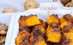 Cocadas, coconut candles. Royalty Free Stock Photography