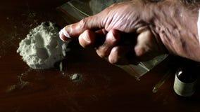 Cocaina di prova, droghe illegali archivi video