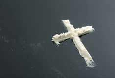 Cocaine cross Royalty Free Stock Photo