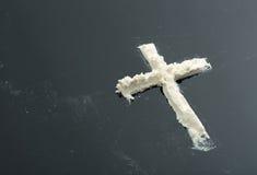 Cocaine cross Royalty Free Stock Photo