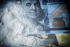 Cocaine drug powder pile Royalty Free Stock Photography