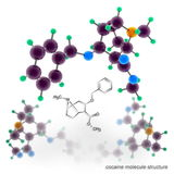 Cocaine molecule structure Stock Images