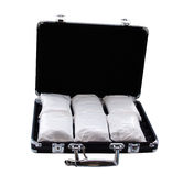 Cocaine (really it's powdered sugar). Cocaine in a suitcase (really it's powdered sugar Stock Image