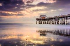 Cocao plaży molo zdjęcie stock