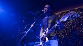COCC从胡志明,越南的摇滚乐队 库存照片