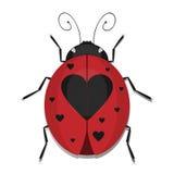 Coccinella del cuore royalty illustrazione gratis