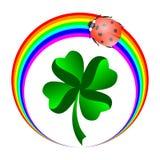 Coccinella ed arcobaleno Fotografia Stock
