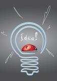 Coccinella in lampada Fotografia Stock Libera da Diritti