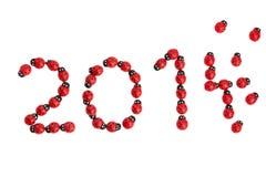 Coccinella per fortuna nel 2015 Fotografia Stock