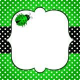 Coccinelle de nature de points de polka de carte d'invitation illustration stock