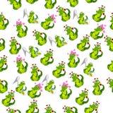 Coccodrillo o alligatore sveglio Fotografie Stock Libere da Diritti