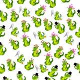 Coccodrillo o alligatore sveglio Fotografia Stock