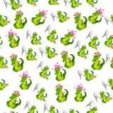 Coccodrillo o alligatore sveglio Fotografie Stock