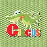 Coccodrillo verde circus illustrazione di stock