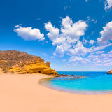 Cocedores beach in Murcia near Aguilas Spain Royalty Free Stock Photos