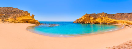 Cocedores beach in Murcia near Aguilas Spain Royalty Free Stock Photography