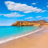 Cocedores beach in Murcia near Aguilas Spain. Cocedores beach in Murcia near Aguilas at Mediterranean sea of spain Royalty Free Stock Images