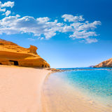 Cocedores beach in Murcia near Aguilas Spain. Cocedores beach in Murcia near Aguilas at Mediterranean sea of spain Stock Images