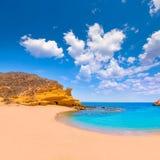 Cocedores plaża w Murcia blisko Aguilas Hiszpania Zdjęcia Royalty Free