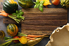 Cocendo con le verdure di autunno Immagini Stock Libere da Diritti
