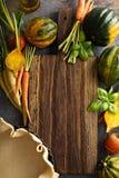 Cocendo con le verdure di autunno Fotografia Stock Libera da Diritti