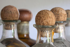 Coch wooden cap. Coch wooden bottle cap sphere Stock Photography