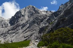 Granite mountains in the Cochamó Valley, Lakes Region of Southern Chile. The Cochamó valley in Chile`s Lakes region Los Lagos offers spectacular mountain royalty free stock photos