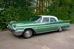 Coche 1960 de la obra clásica de Chrysler Winsor Foto de archivo libre de regalías