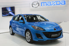 Coche 2009 justo, Mazda 3 de Belgrado Foto de archivo libre de regalías