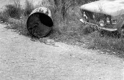 Coche abandonado Fotografía de archivo