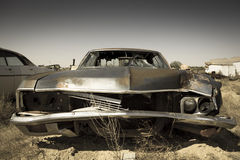 Coche abandonado del vintage en el estado de Utah Foto de archivo