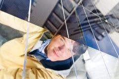 Coche accionado solar Foto de archivo