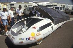 Coche accionado solar en los 500 solares y eléctricos, AZ Imagen de archivo