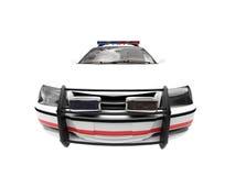 Coche aislado del blanco de la policía ilustración del vector