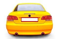 coche amarillo del convertible de BMW 335i Foto de archivo libre de regalías