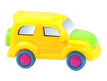 Coche amarillo del juguete fotografía de archivo libre de regalías