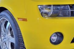 Coche amarillo del músculo Foto de archivo libre de regalías