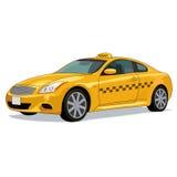 Coche amarillo del taxi Foto de archivo libre de regalías