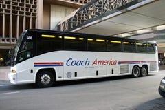Coche America Charter Bus fotos de archivo