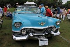 Coche americano azul clásico Imagen de archivo libre de regalías