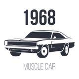 Coche americano 1968 del músculo ilustración del vector