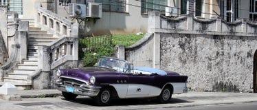 Coche americano histórico viejo de Cuba fotografía de archivo libre de regalías